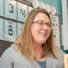 Sara Lenz, educator at Wadena-Deer Creek and participant in Equity professional development, in her classroom.